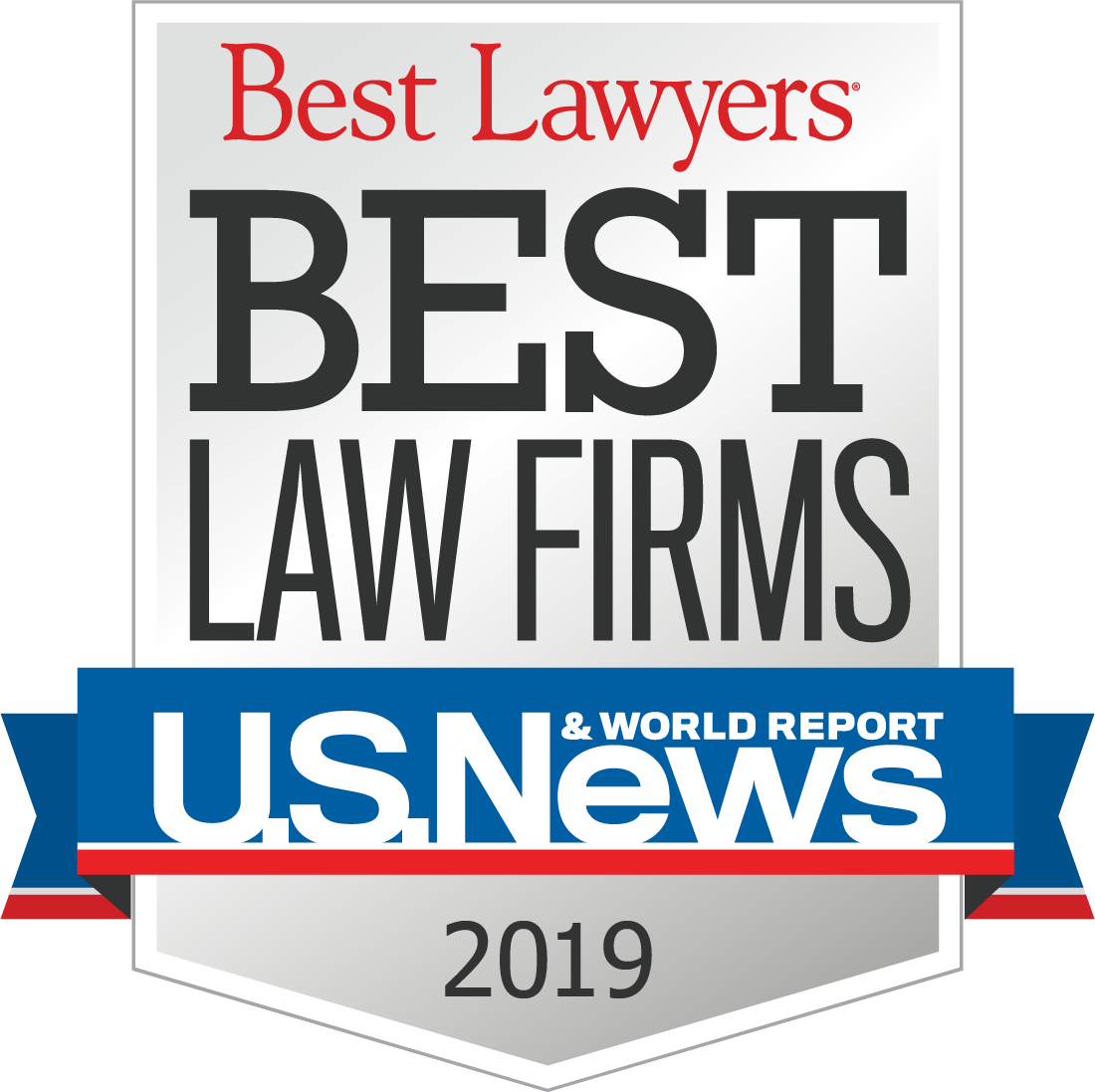 2018 best lawyers and best law firms by U.S. News and World Report badge.