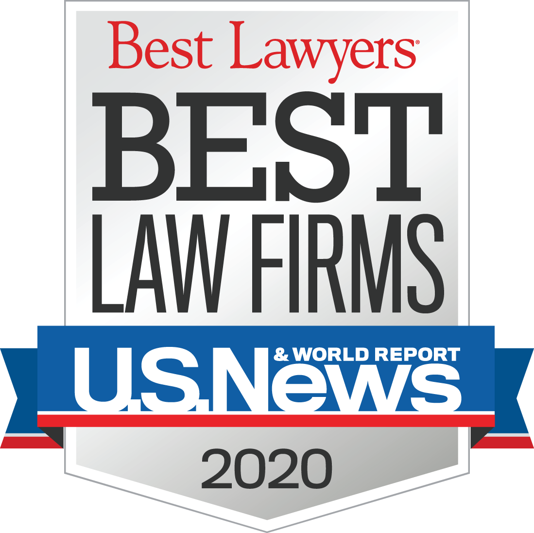 2020 best lawyers and best law firms by U.S. News and World Report badge.