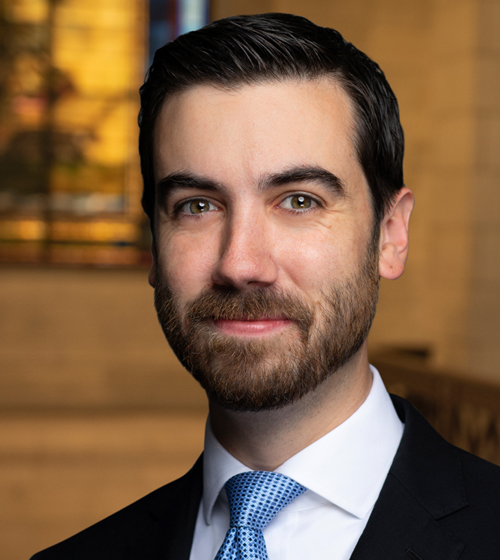 Headshot of Jacob Leyland, new associate attorney at GRB Law
